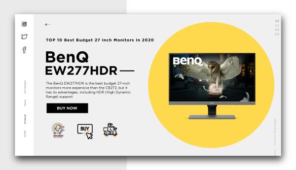best budget 27 inch monitors-BenQ-EW277HDR
