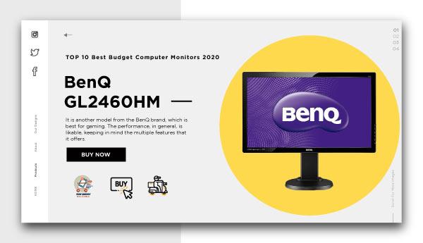 best budget computer monitors-BenQ GL2460HM