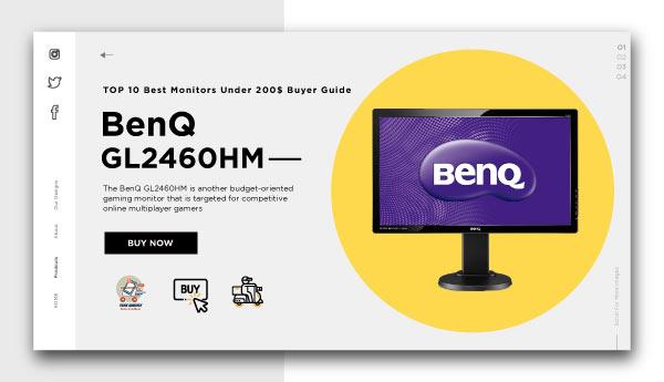 Best Monitors Under 200$-BenQ-GL2460HM