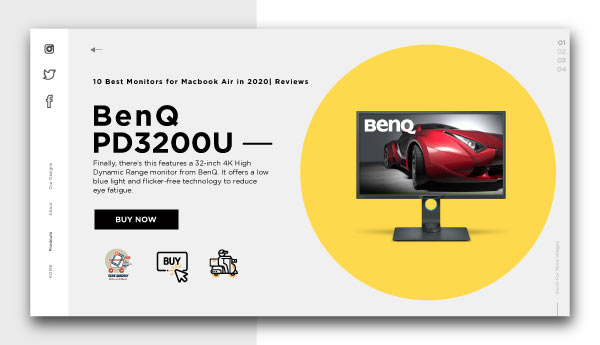best monitors for macbook air-BenQ-PD3200U