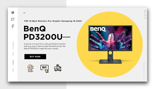 monitors for graphic designing -BenQ PD3200U