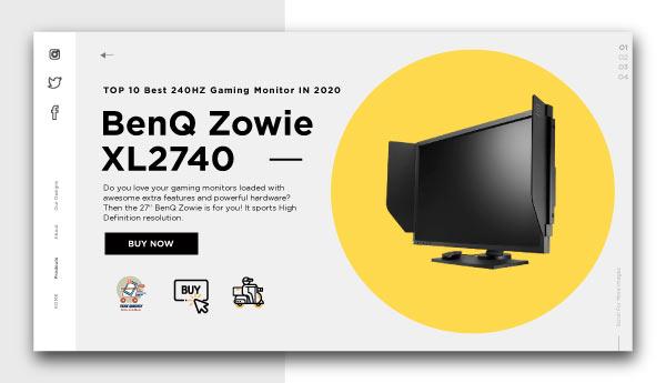 best 240HZ gaming monitor-BenQ-Zowie-XL2740