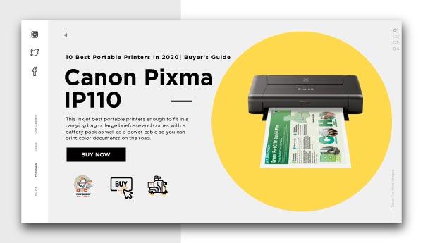 best portable printers-Canon Pixma iP110