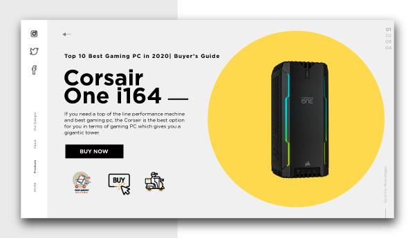 best gaming pc-Corsair-One-i164