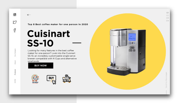 best coffee maker for one person-Cuisinart-SS-10-Single-Serve-K-Cup-low-Machine