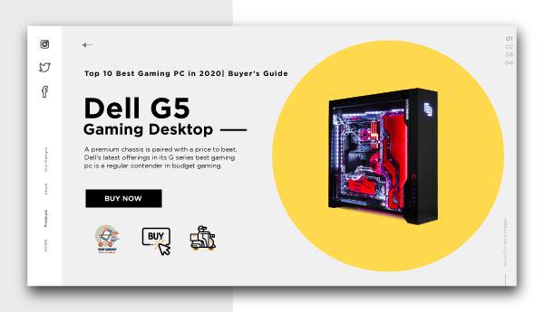best gaming pc-Dell-G5-Gaming-Desktop