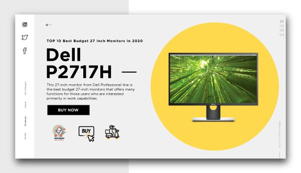 best budget 27 inch monitors-Dell-P2717H