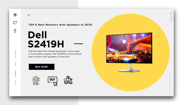 best monitors with speakers-Dell-S2419H