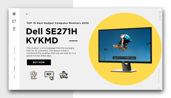 best budget computer monitors-Dell SE271H KYKMD