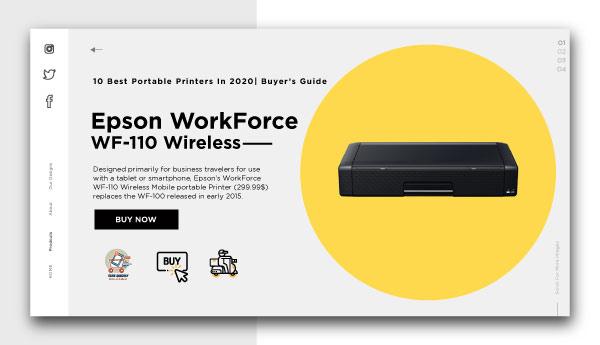 best portable printers-Epson-WorkForce-WF-110-Wireless