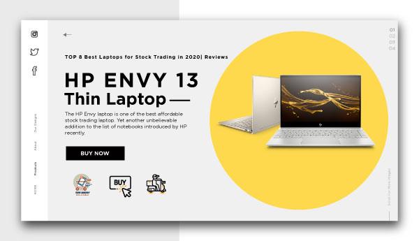 "best laptops for stock trading-HP ENVY 13"" Thin Laptop"