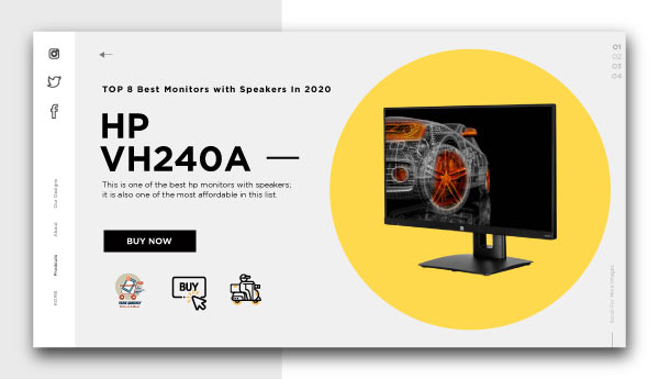 best monitors with speakers-HP-VH240a
