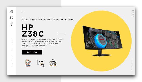 best monitors for macbook air-HP-Z38c