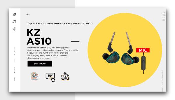 best custom in-ear headphones-KZ-AS10