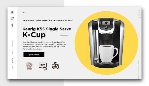 best coffee maker for one person-Keurig K55 Single Serve Programmable K-Cup