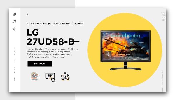 best budget 27 inch monitors-LG-27UD58-B