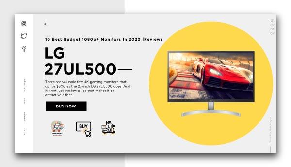 best budget 1080p+ monitors-LG-27UL500