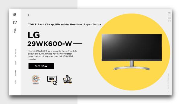 best cheap ultrawide monitors-LG 29WK600-W