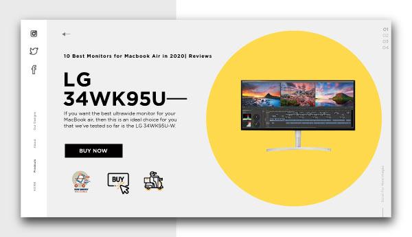 best monitors for macbook air-LG-34WK95U