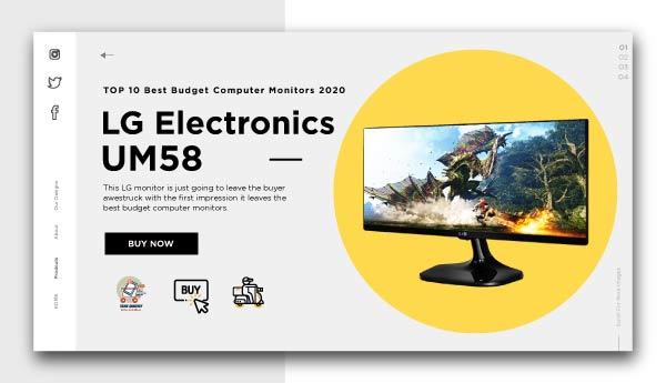 best budget computer monitors-LG Electronics UM58