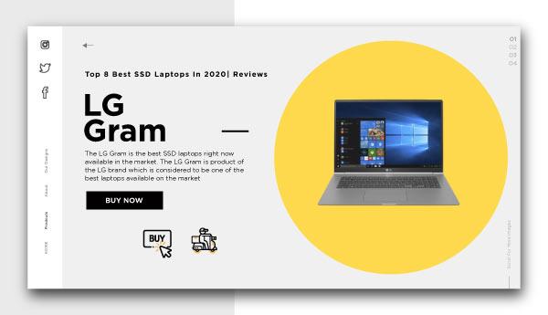 best ssd laptops-LG-Gram