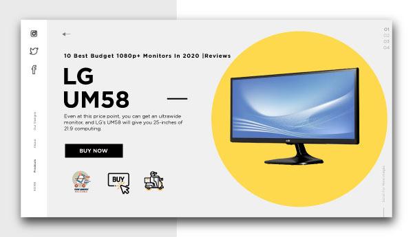 best budget 1080p+ monitors-LG-UM58