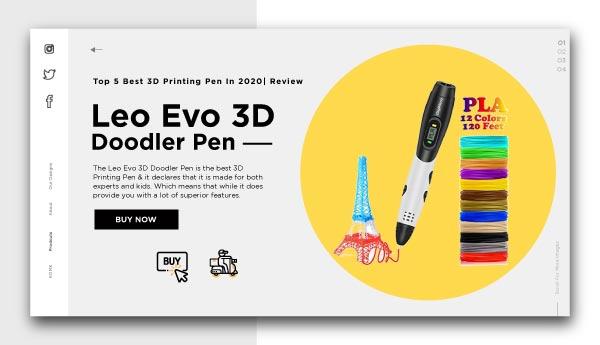 3d printing pen-Leo-Evo-3D-Doodler-Pen