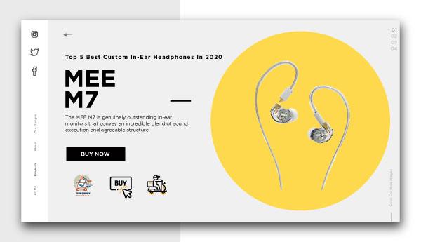 best custom in-ear headphones-MEE-M7
