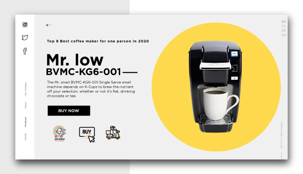 best coffee maker for one person-Mr.-low-BVMC-KG6-001