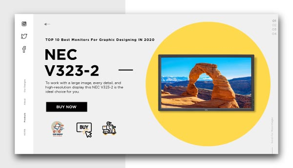 monitors for graphic designing -NEC V323-2