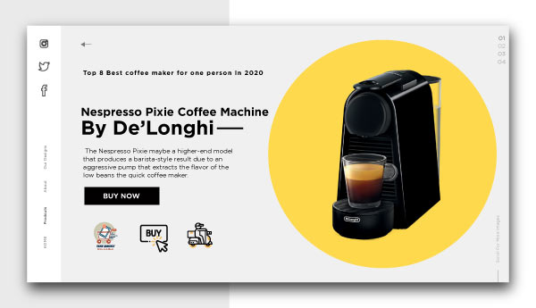 best coffee maker for one person-Nespresso-Pixie-Coffee-Machine-By-De'Longhi