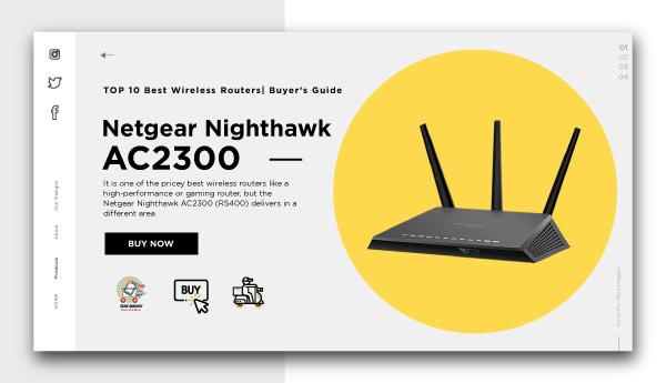 best wireless routers-Netgear-Nighthawk-AC2300-RS400