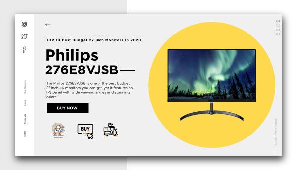 best budget 27 inch monitors-Philips-276E8VJSB
