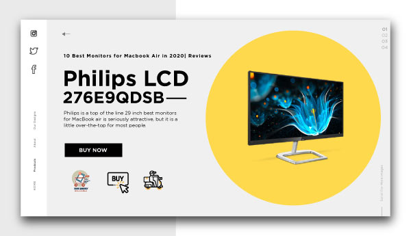 best monitors for macbook air-Philips-LCD-Monitor-276E9QDS