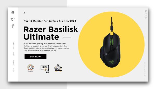 best wireless gaming mouse-Razer-Basilisk-Ultimate