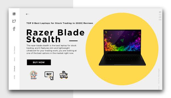 best laptops for stock trading-Razer-Blade-Stealth