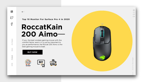 best wireless gaming mouse-RoccatKain-200-Aimo