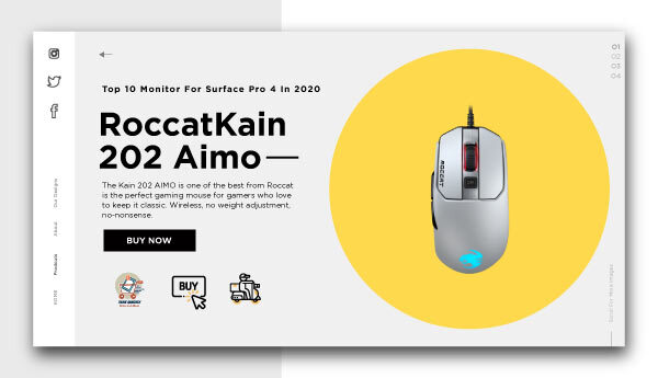 best wireless gaming mouse-RoccatKain-202-AIMO