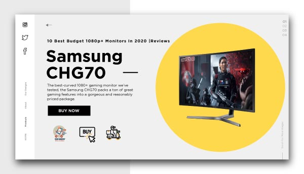 best budget 1080p+ monitors-Samsung-CHG70