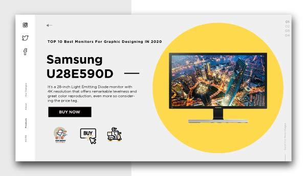 monitors for graphic designing -Samsung U28E590D