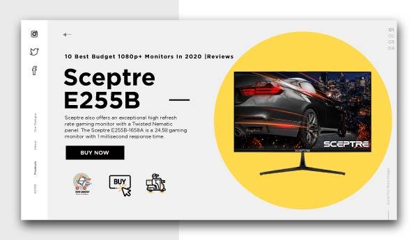 best budget 1080p+ monitors-Sceptre-E255B