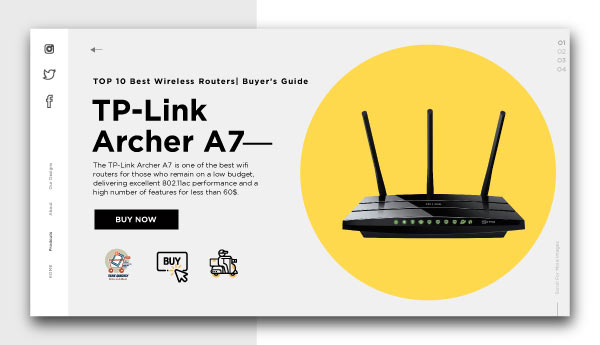best wireless routers-TP-Link-Archer-A7