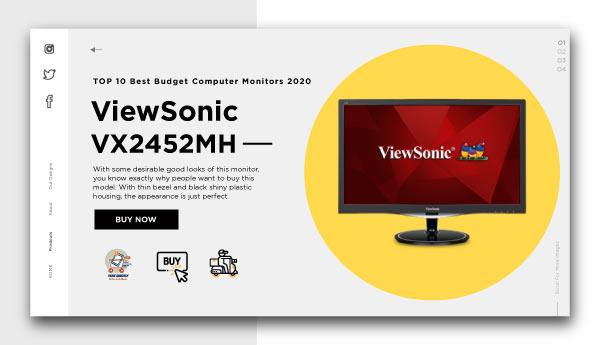 best budget computer monitors-ViewSonic VX2452MH