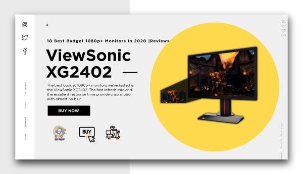 best budget 1080p+ monitors-ViewSonic-XG2402