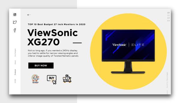 best budget 27 inch monitors-ViewSonic-XG270