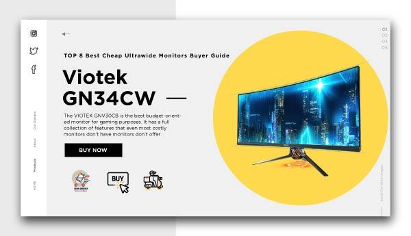 best cheap ultrawide monitors-Viotek GN34CW