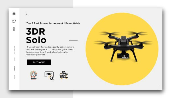 3DR Solo-Best Drones for GoPro 4