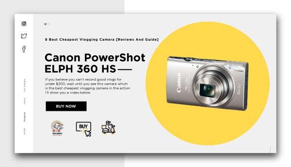 best cheapest vlogging camera-Canon-PowerShot-ELPH-360-HS