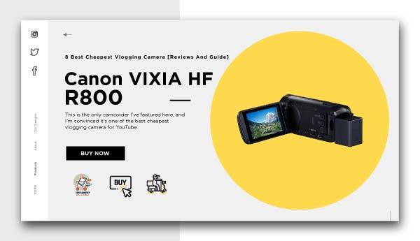 best cheapest vlogging camera-Canon-VIXIA-HF-R800