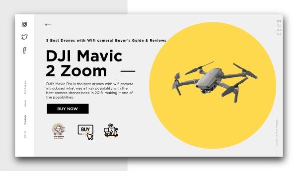 Best Drones with Wifi camera-DJI Mavic 2 Zoom